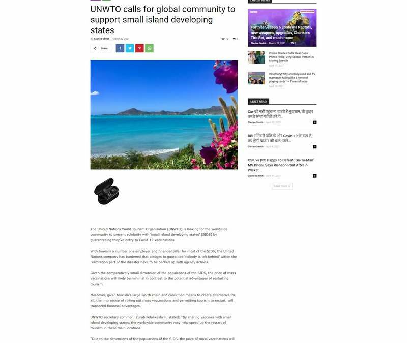 UNWTO calls for global community to support small island developing states